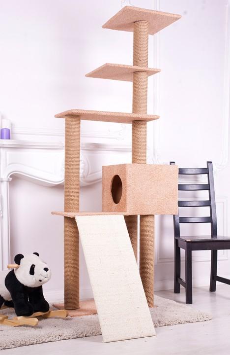 Домик для кошки Гранд-15С с горкой
